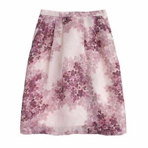 NWT J Crew Collection Circle Skirt Misty Hydrangea